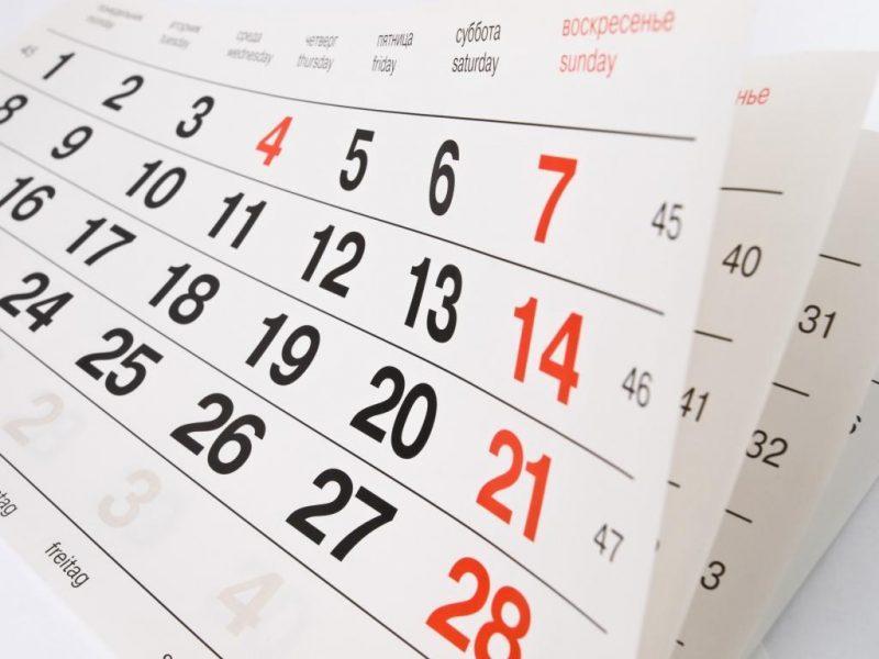 Calendário de Feriados Prolongados no Brasil em 2017